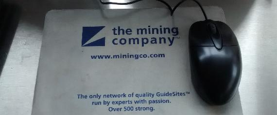 A Miningco.com Mouse Pad From 1997